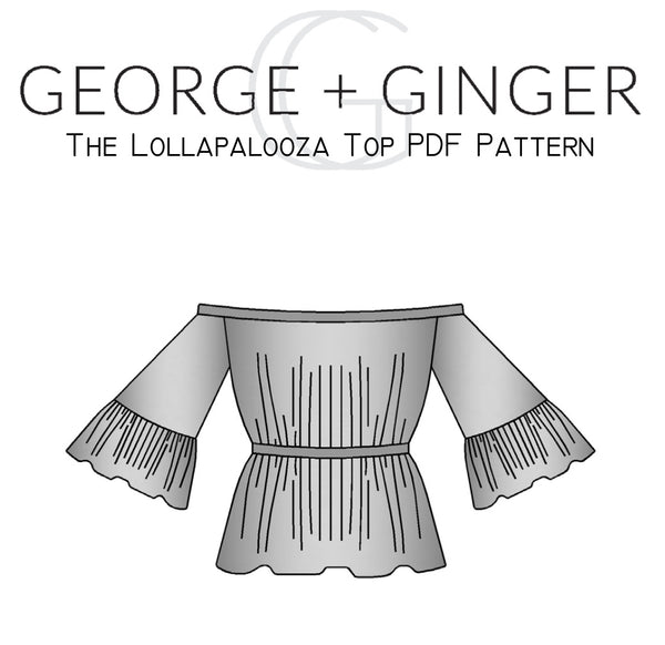 The Lollapalooza Top PDF Sewing Pattern