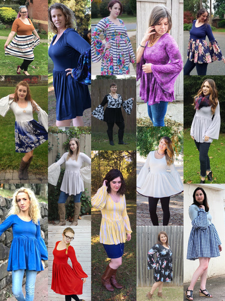 The Lively Top and Dress (Women's Sizes) PDF Sewing Pattern