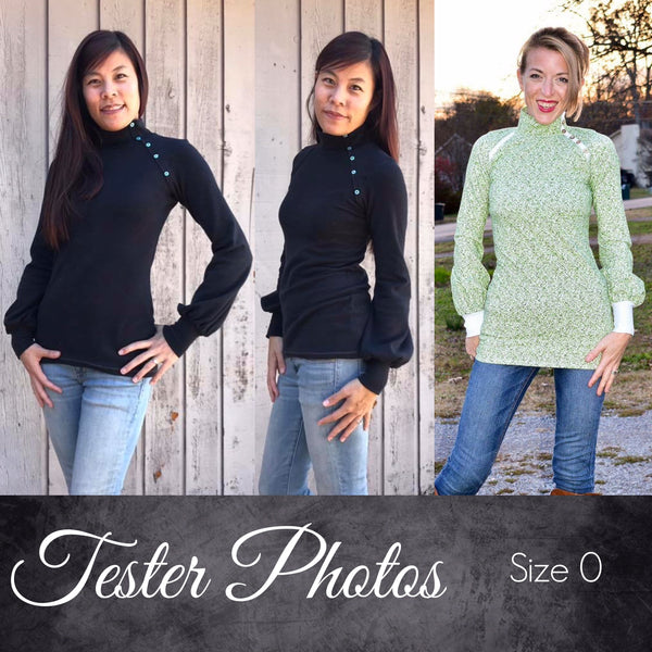 The Posh Top (Women's Sizes) PDF Sewing Pattern