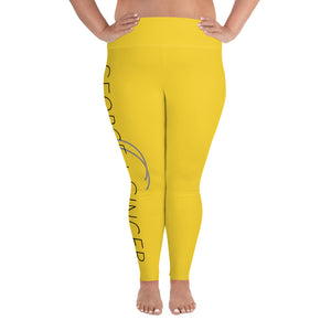 G+G Matching Sunflower Plus Yoga Leggings