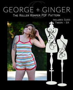 The Roller Romper PDF Sewing Pattern