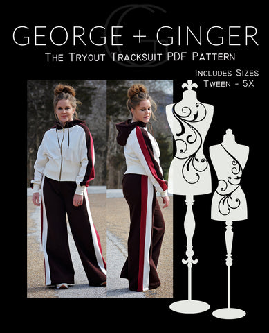 The Tryout Tracksuit PDF Sewing Pattern