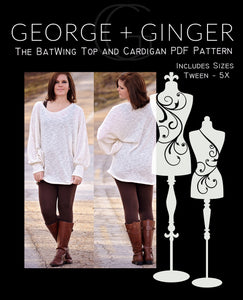 The BatWing Tunic and Cardigan PDF Sewing Pattern