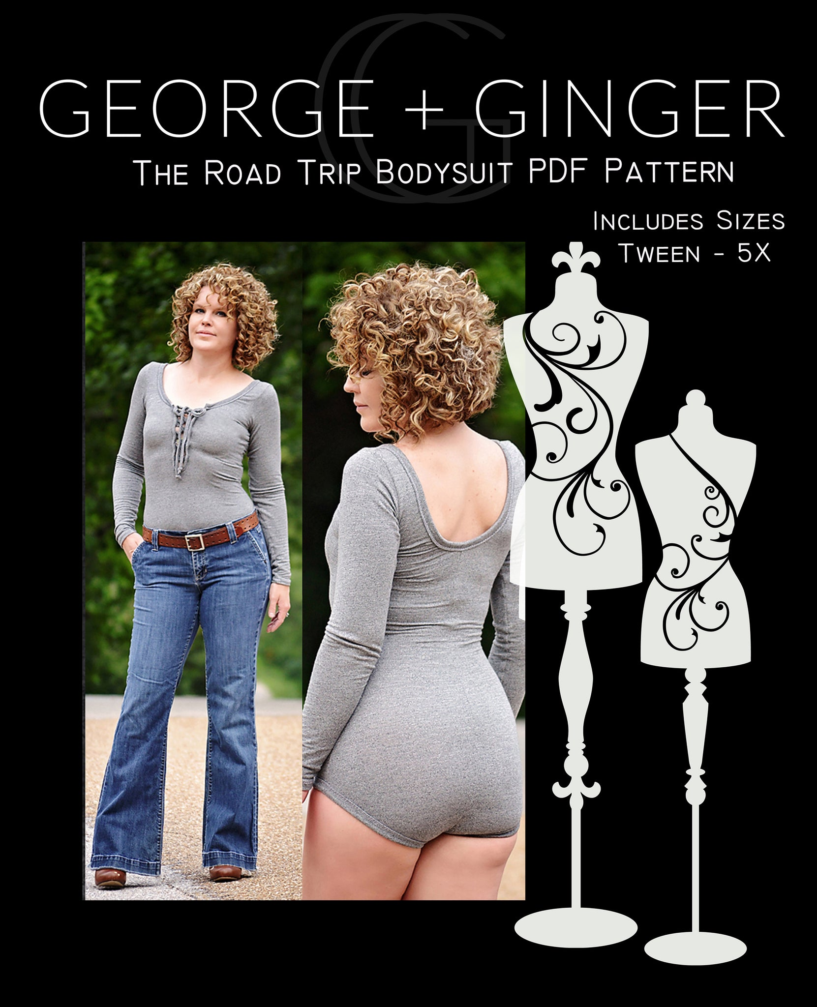 The Road Trip Bodysuit PDF Sewing Pattern