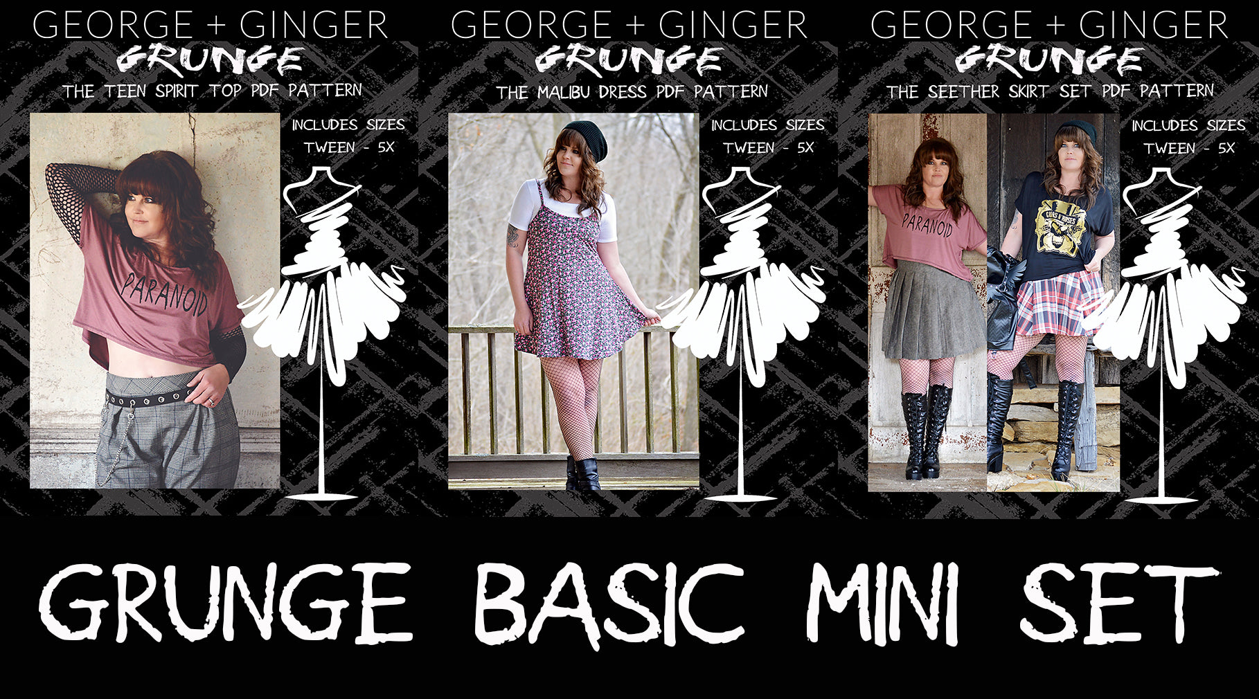 Basic Grunge Mini Set PDF Sewing Pattern