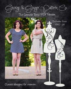 The Capsule Tunic (Women's Sizes) PDF Sewing Pattern