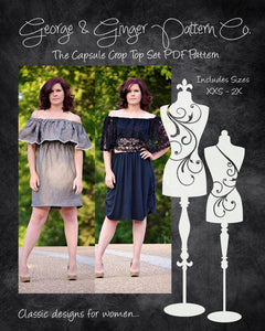 The Capsule Crop Top Set (Women's Sizes) PDF Sewing Pattern