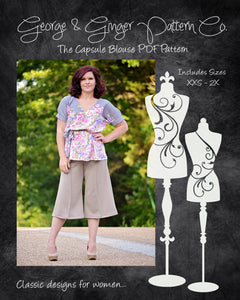 The Capsule Blouse (Women's Sizes) PDF Sewing Pattern
