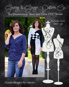 The Breakthrough Tunic and Dress (Women's Sizes) PDF Sewing Pattern