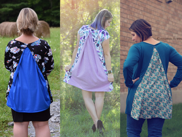 The Sweet Pleat Top and Dress (Women's Sizes) PDF Sewing Pattern