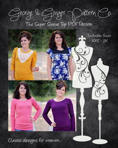 The Super Sleeve Top (Women's Sizes) PDF Sewing Pattern