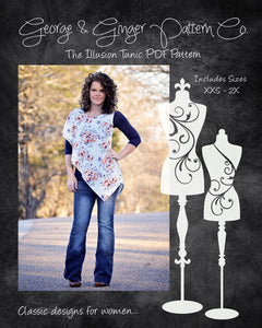 The Illusion Tunic (Women's Sizes) PDF Sewing Pattern