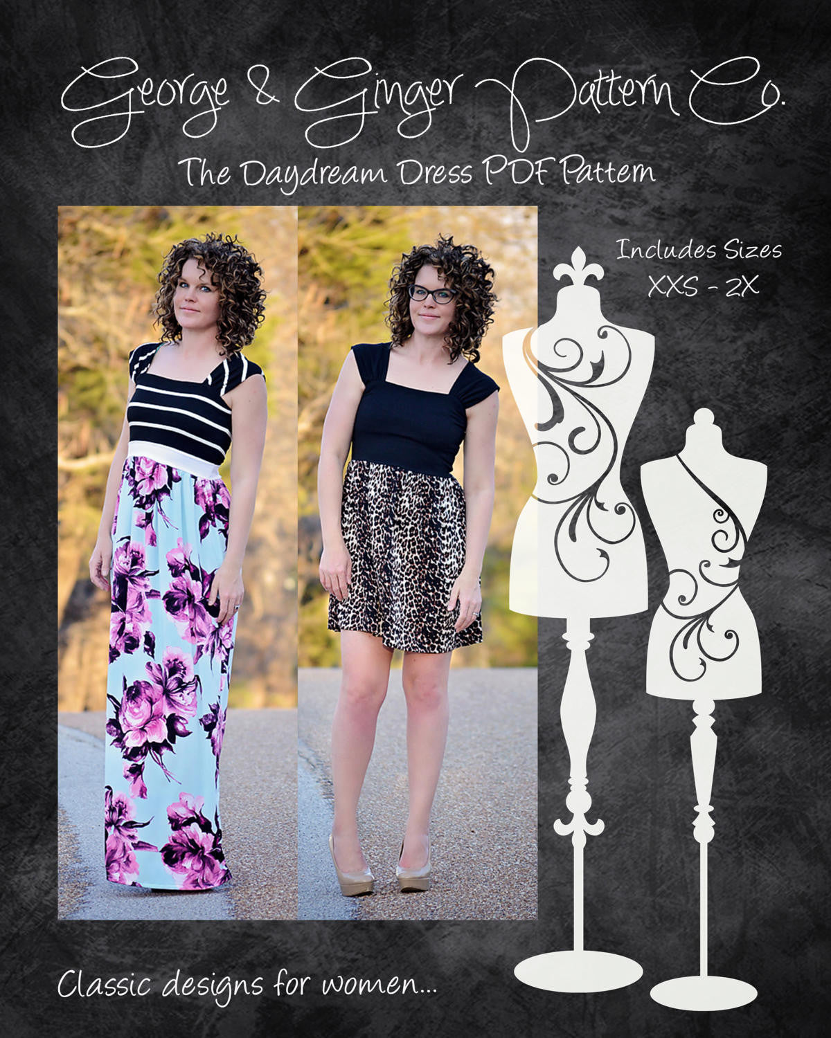 The Daydream Dress (Women's Sizes) PDF Sewing Pattern