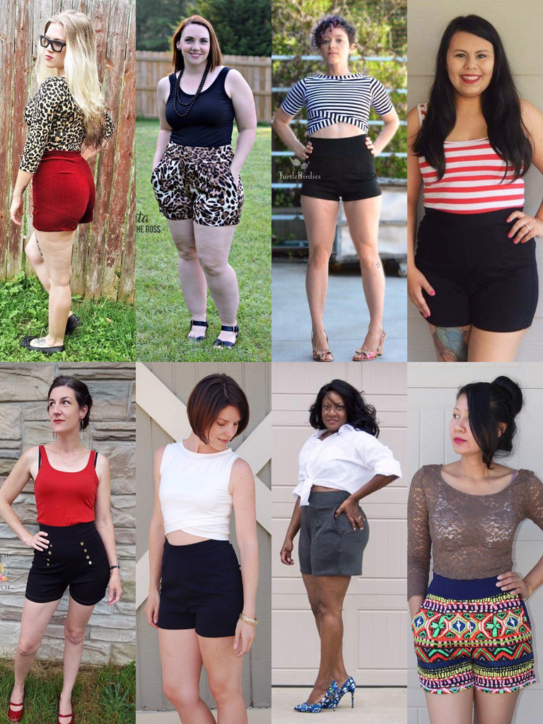 The Heat Wave Hot Pants (Women\'s Sizes) PDF Sewing Pattern – George ...