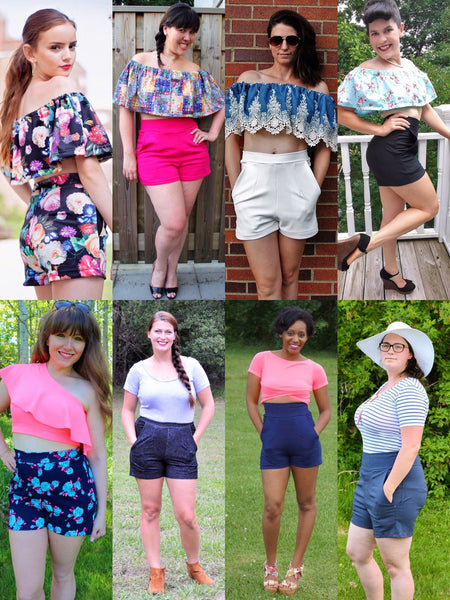 The Heat Wave Hot Pants (Women's Sizes) PDF Sewing Pattern