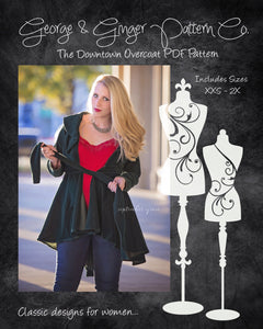 The Downtown Overcoat (Women's Sizes) PDF Sewing Pattern