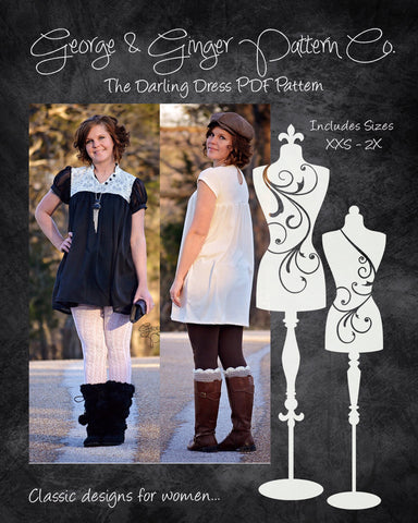 The Darling Dress (Women's Sizes) PDF Sewing Pattern