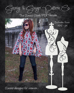 The Classic Cloak (Women's Sizes) PDF Sewing Pattern