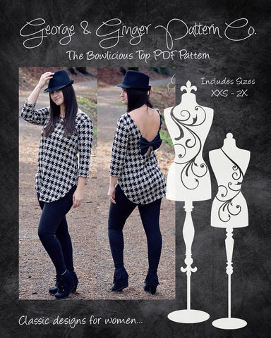 The Bowlicious Top (Women's Sizes) PDF Sewing Pattern