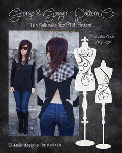 The Splitsville Top (Women's Sizes) PDF Sewing Pattern