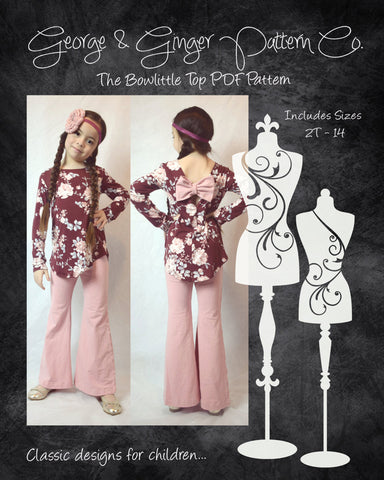 The Bowlittle Top (Children's Sizes) PDF Sewing Pattern