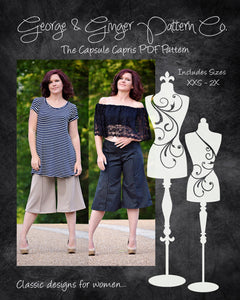The Capsule Capris (Women's Sizes) PDF Sewing Pattern