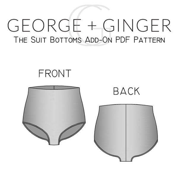 Suit Bottoms Add-On (YouTube Exclusive) PDF Sewing Pattern