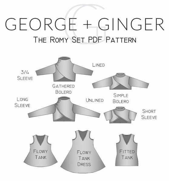 The Romy Set PDF Sewing Pattern
