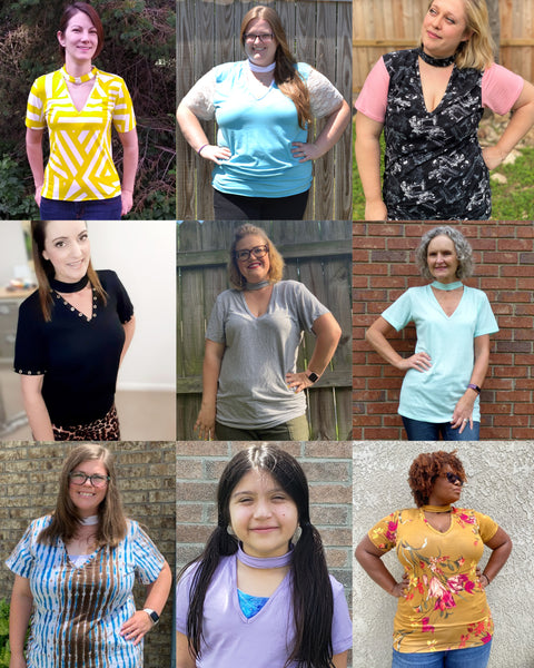 The Rebel Choker Tee PDF Sewing Pattern