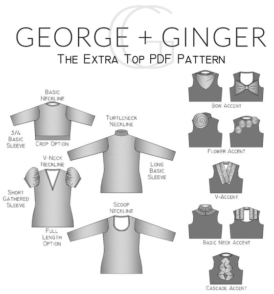 The Extra Top PDF Sewing Pattern