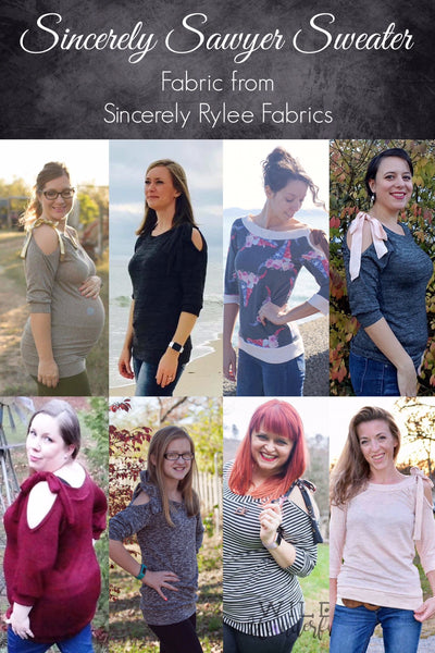 The Sincerely Sawyer Sweater (Women's Sizes) PDF Sewing Pattern