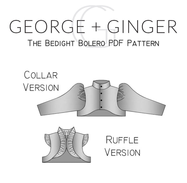 The Bedight Bolero PDF Sewing Pattern