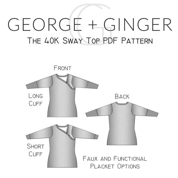 The 40K Sway Top PDF Sewing Pattern