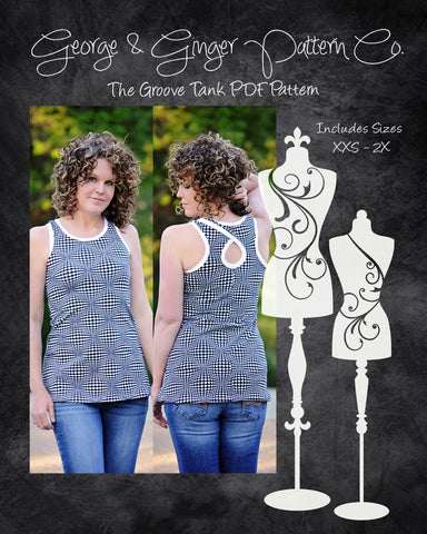 The Groove Tank PDF Sewing Pattern