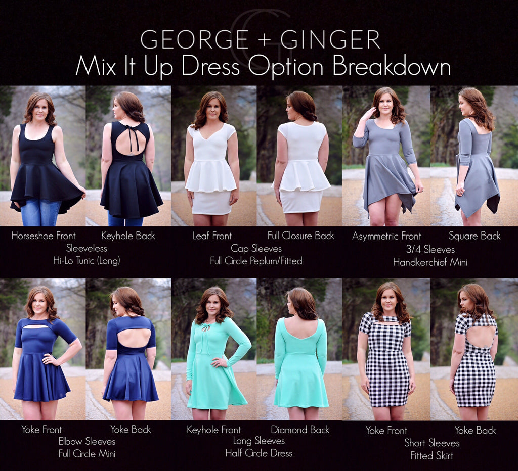 d33e22e76fb The Mix It Up Dress PDF Sewing Pattern – George And Ginger Patterns