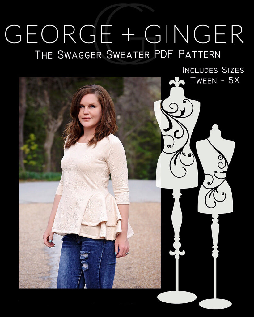 a8095c2d756 The Swagger Sweater PDF Sewing Pattern – George And Ginger Patterns