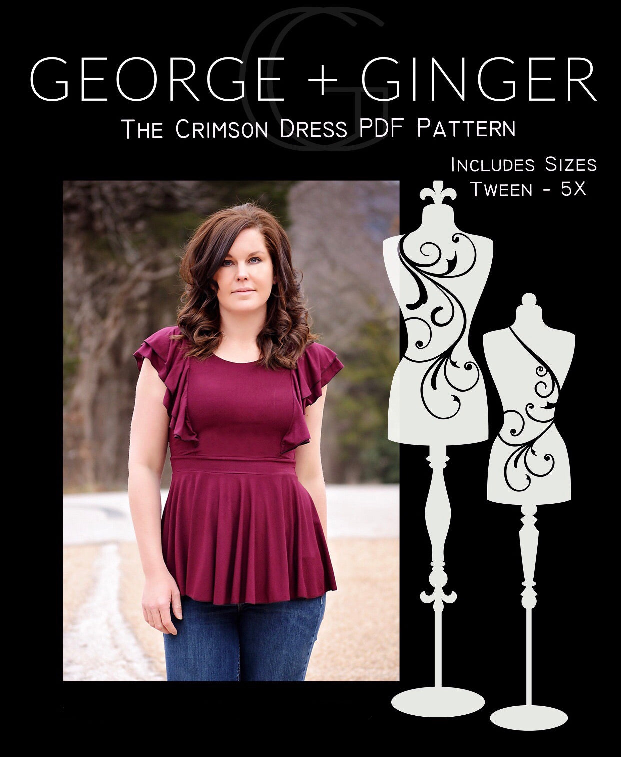 The Crimson Dress PDF Sewing Pattern