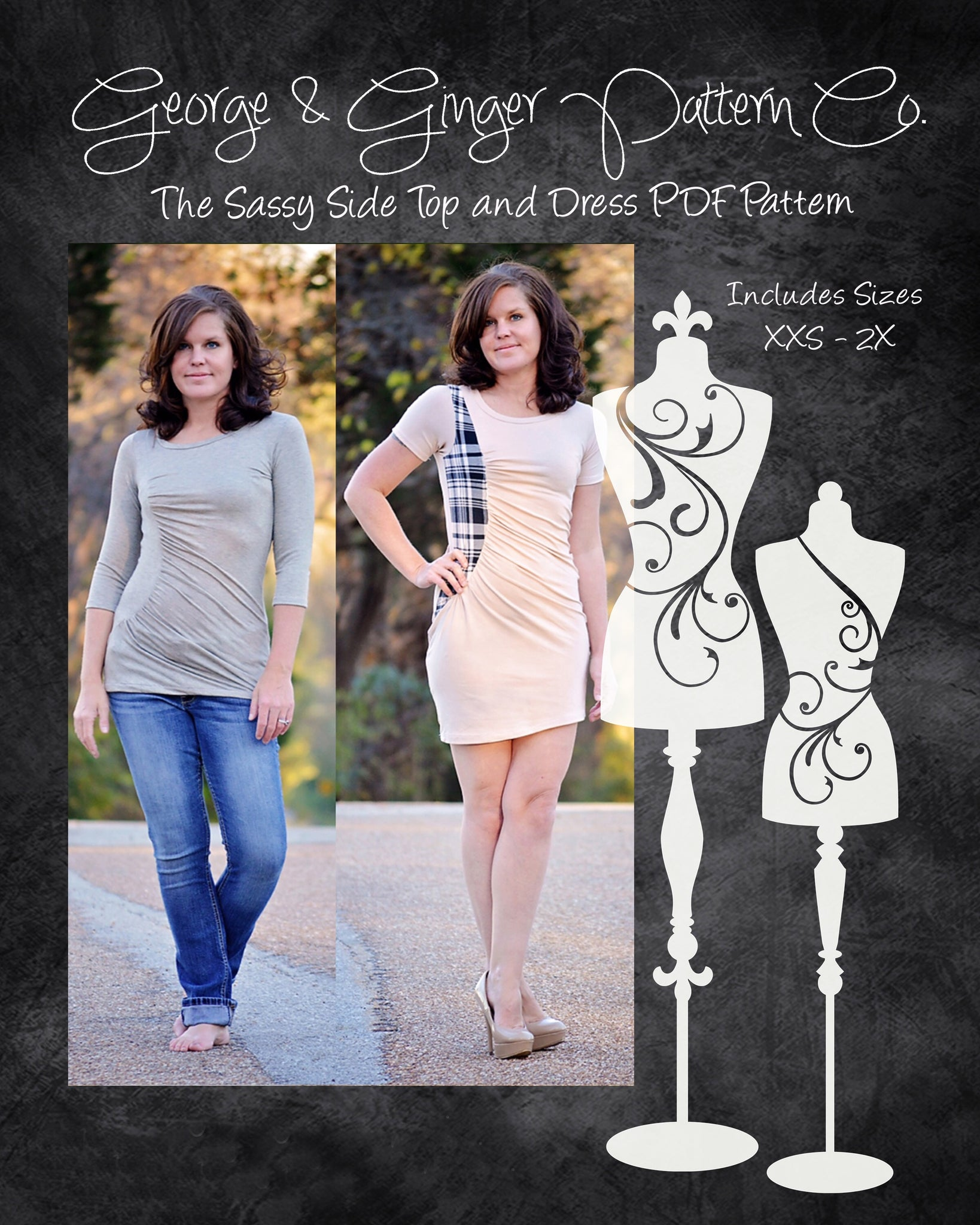 The Sassy Side Top and Dress PDF Sewing Pattern