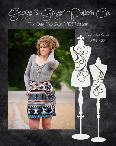 The Day Trip Skirt PDF Sewing Pattern