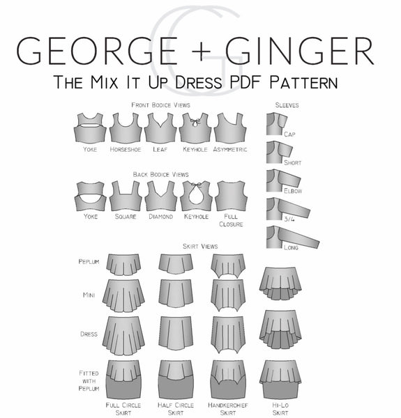 The Mix It Up Dress PDF Sewing Pattern