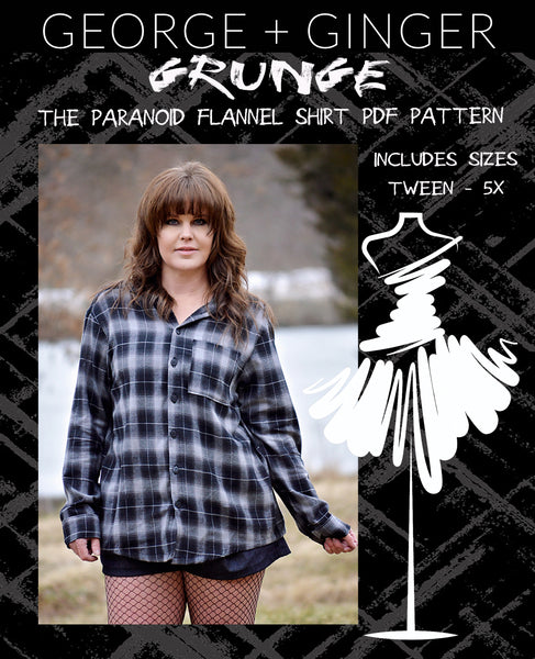 The Paranoid Flannel Shirt PDF Sewing Pattern