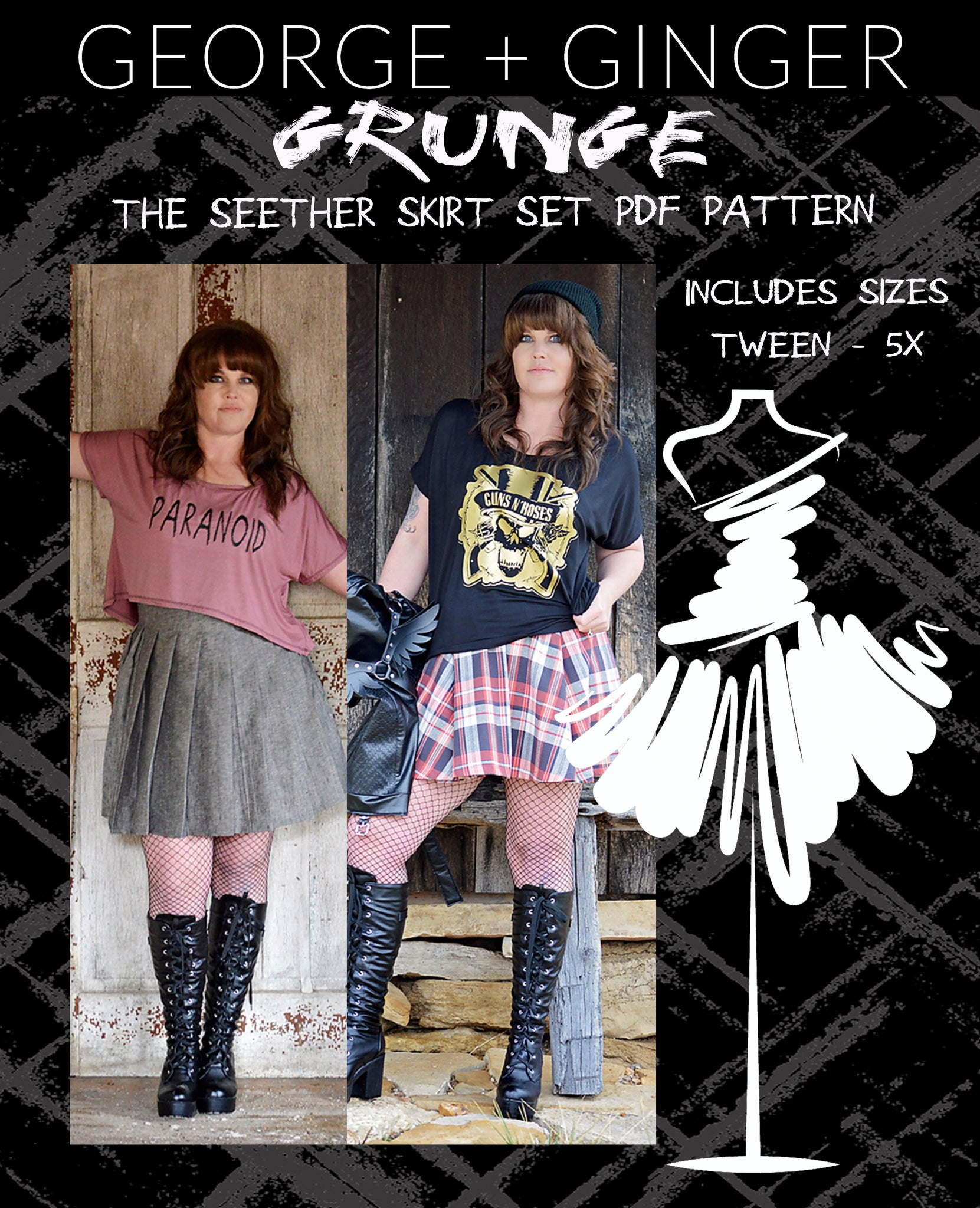 The Seether Skirt Set PDF Sewing Pattern