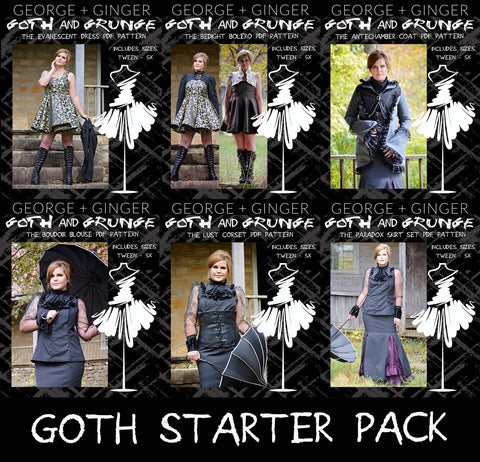 Goth Starter Pack Collection PDF Sewing Pattern