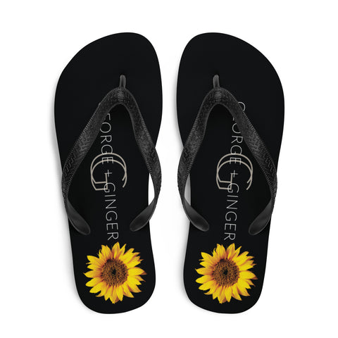 G+G Sunflower Flip Flops