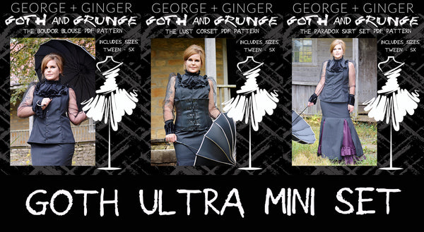 Ultra Goth Mini Set PDF Sewing Pattern