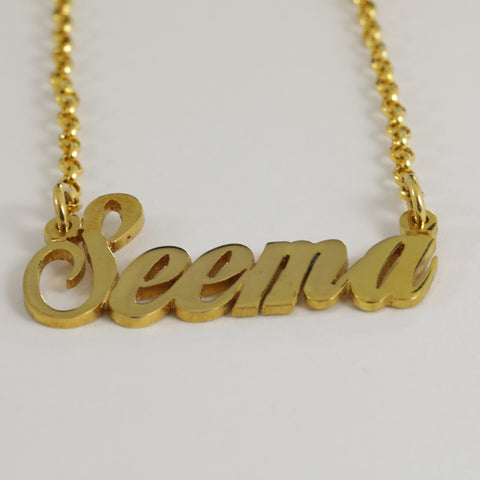 "22K Yellow Gold ""Seema"" Name Necklace"