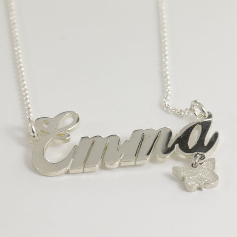 "Sterling Silver ""Emma"" Name Necklace"