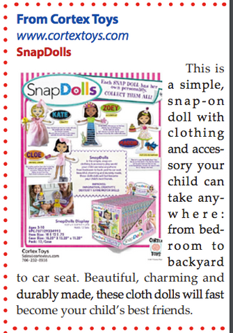 Clipping of SnapDolls coverage in The Jewish Press