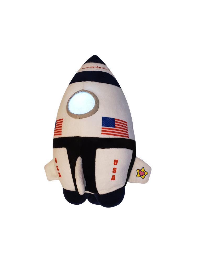 Neil The Rocket NightBuddies. Embroidered 50th Anniversary of The Apollo 11 Moon Landing! by Mighty Mojo