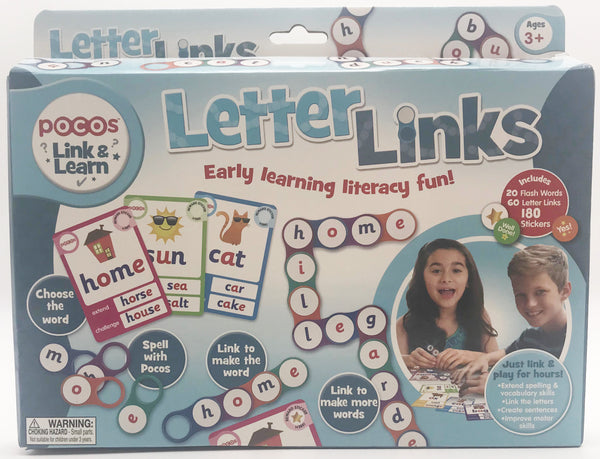 Pocos Letter Links with Flash Cards